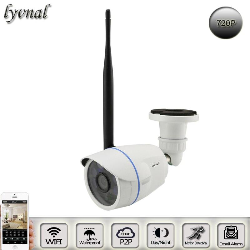 imágenes para LYVNAL bullet cámara ip impermeable al aire libre wifi cámara 720 p de la visión nocturna p2p onvif CCTV sistema de cámara de Vigilancia wifi