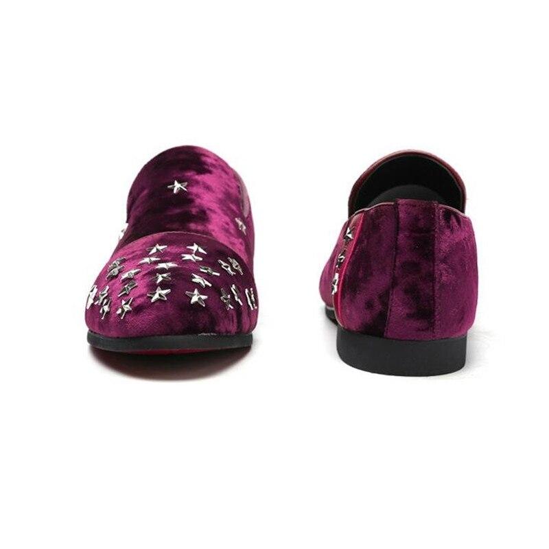 Cool Mariage 38 Luxe Chaussures De Plus Pour Homme Vivodsicco Hommes 48 taille Mocassins Mens Noir Designer Conduite Étoiles rouge Rivets Pic EZxPq7zx