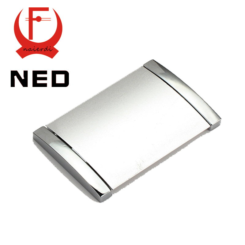 Brand NED 10PCS Diameter 70MM Hole Pitch 64MM Aluminum Alloy Hidden Handle Drawer Door Furniture Wardrobe Knobs Cabinet Hardware