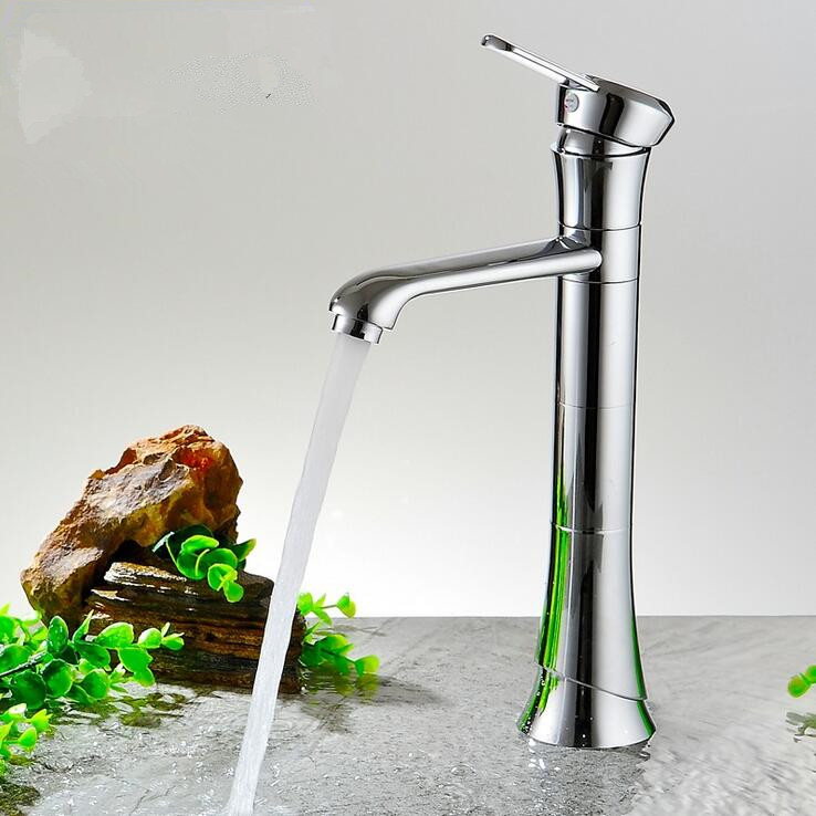 Chrome brass bathroom faucet High wash basin tap mixer brushed waterfall basin faucet sink Mixer Tap sink faucet led rgb bathroom sink mixer tap basin faucet waterfall brass bathroom colors brass temperature sense mixer tap basin faucet 2017