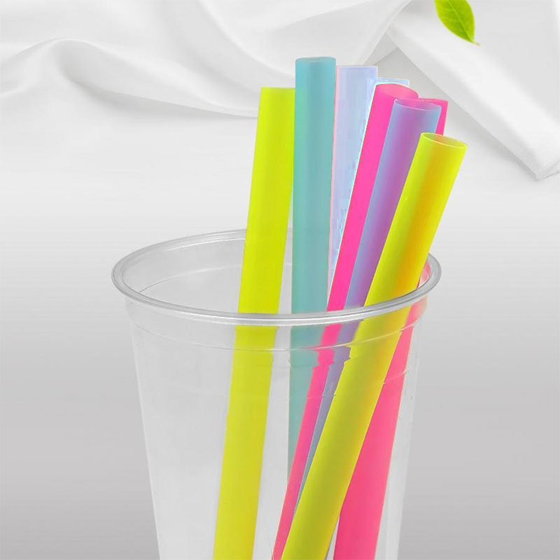 100Pcs/Set 10mm Colorful Large Drinking Straws For Bubble Smoothie Milkshake Party Smoothies Bar Accessories