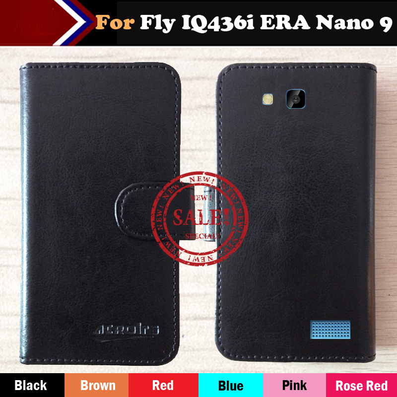 Fly IQ436i ERA Nano 9 Case Factory Direct! 6 Colors Dedicated Leather Exclusive Special Phone Cover Crazy Horse Cases+Tracking