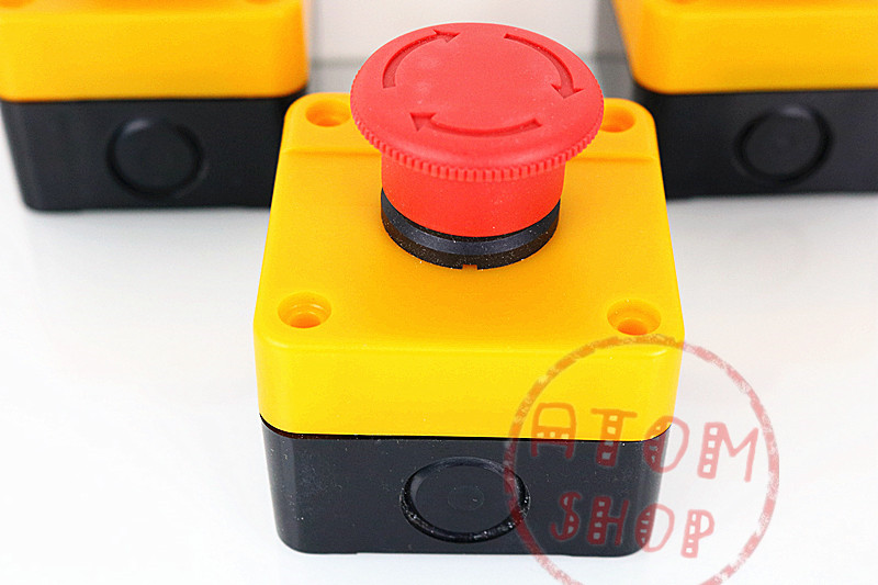 Red Sign Emergency Stop Mushroom Push Button Switch NO+NC AC660V/10A YF red sign mushroom emergency stop push button switch station 1 nc normally closed