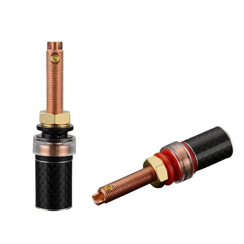 Viborg 4 pièces Hifi BP614 fibre de carbone pur cuivre Audio reliure poste haut-parleur Terminal pour amplificateur