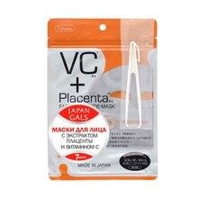 Маска JAPAN GALS для лица с плацентой и витамином C 7 шт