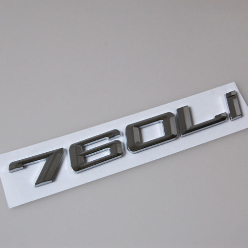760Li Chrome ABS Car Trunk Rear Letters Badge Emblem Sticker Fit For BMW F01 F02 7 Series 760 Li Trunk Car Styling Accessories car rear trunk security shield cargo cover for volkswagen vw tiguan 2016 2017 2018 high qualit black beige auto accessories
