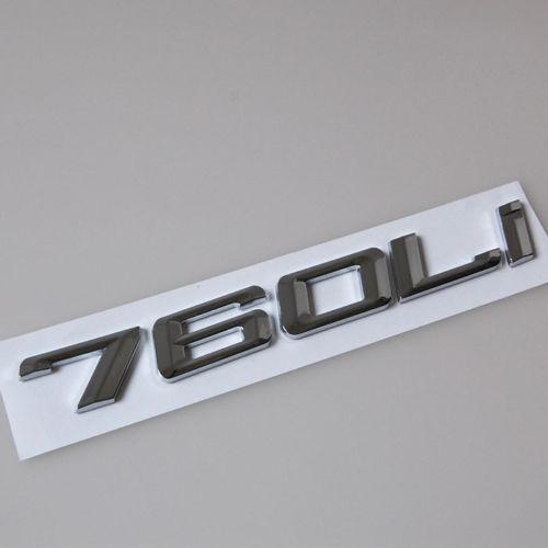 760Li хром ABS автомобилей задний багажник письма значок эмблема наклейка подходит для BMW f01 в 7 серии Ф02 ствол 760 литий стайлинга автомобилей аксессуары