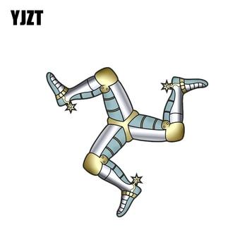 YJZT 13,2 CM * 12CM de la motocicleta del casco de La etiqueta engomada del coche de Isla de coche accesorios 6-2144