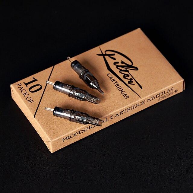10 pcs/lot Original Filter Cartridge Tattoo Needles Curved Magnum #12 0.35 mm Membrane System Needles for Cartridge Machine Grip