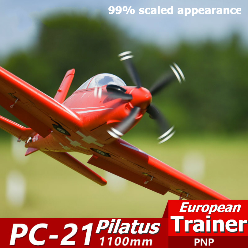 FMS 1100MM 1.1M PC-21 PC21 Pilatus RC Airplane European Trainer PNP With Retracts 6CH 4S EPO Scale Model Plane Aircraft Avion