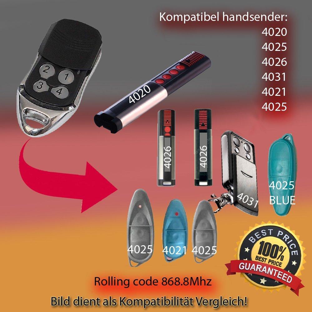 Handsender Porte de Garage Universel Télécommande Récepteur 868 Mhz SOMMER 4026 4020 4031 Commande RF Porte télécommande 2 pcs