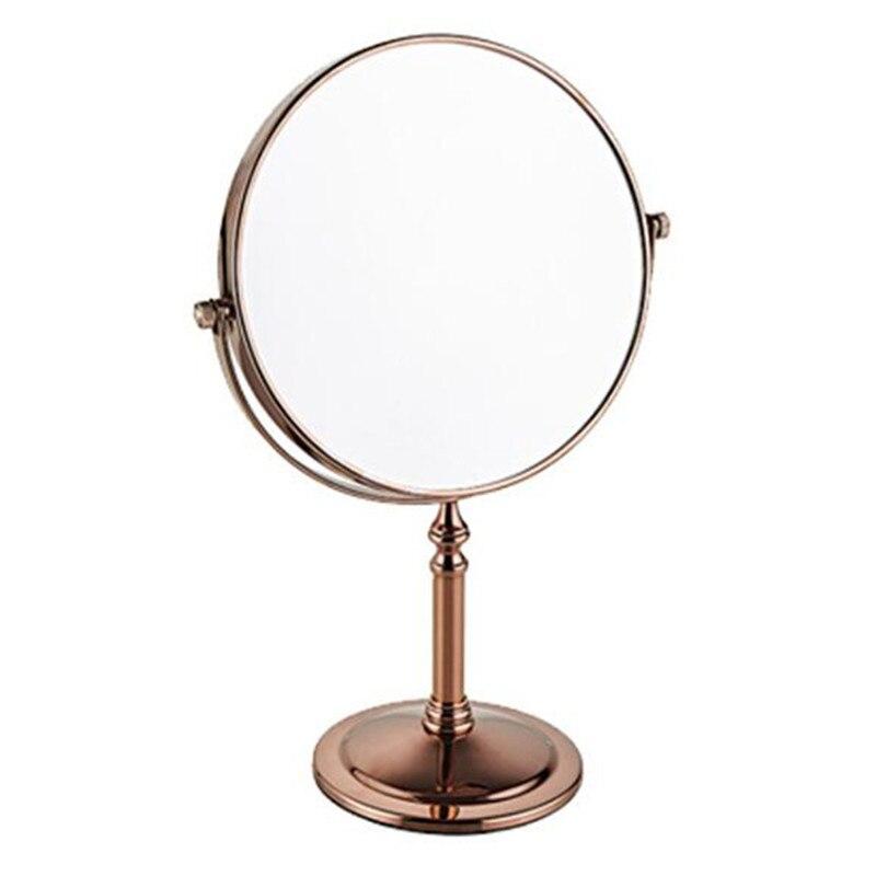 LIUYUE, зеркало для макияжа, медное, черное, стиль, 8 дюймов, зеркало для макияжа, профессиональное туалетное зеркало, 360 градусов, для ванной комнаты, Лупа - Цвет: rose gold