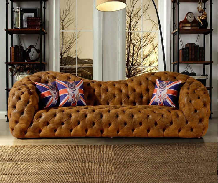 living room sofa set muebles de sala genuine leather sofa modern home furniture neoclassical couch chesterfield sofa big 3 seat