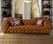 living room sofa set muebles de sala genuine leather sofa modern home furniture neoclassical couch chesterfield sofa big 3 seat mid century modern style sofa love seat colored button japanese style low sofa small for home office living room furniture couch