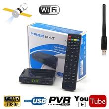Free sat V7 HD DVB-S2 HD Satellite TV Receiver USB Wifi Support PowerVu Biss Key Cccamd Newcamd Youtube MPEG4 H.264 AC3 TV Tuner