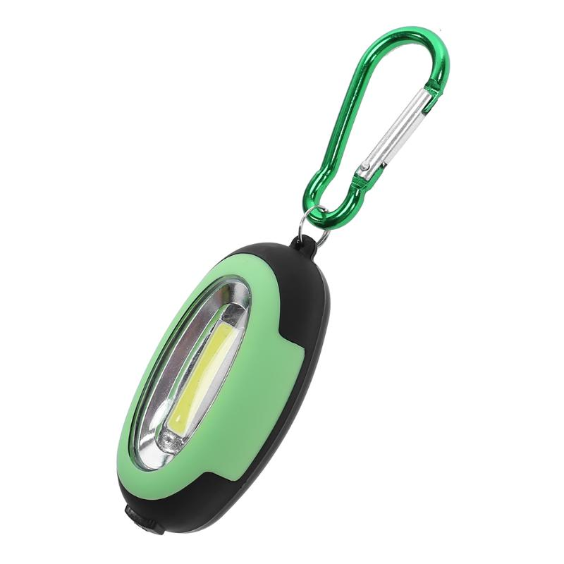 Mini Portable COB LED Flashlight Camping Light 3-Mode Mini Lamp Key Chain Ring Keychain PVC Lamp Torch Keyring