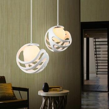 Moderne hars hanger lampen desserts kleding koffie bars restaurants balkon hollow werkt rood en wit hanglamp ZA81010