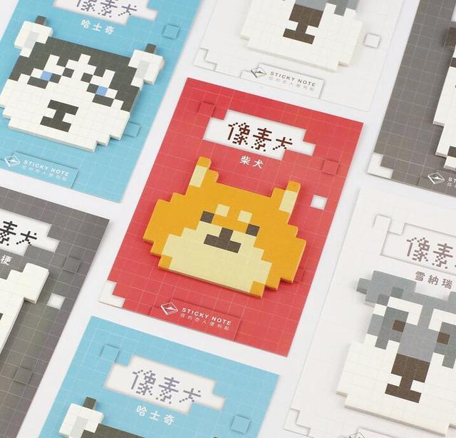Новый Pixel Собака Самоклеящиеся Memo Pad Sticky Notes Сообщение Это Закладка Школа Канцелярских товаров