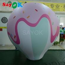2 m (6.56ft) grand ballon à hélium crème glacée formes ballon ballon gonflable à l'hélium pour fête/événement/spectacle/publicité/exposition