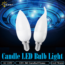 1X 3W Led Candle Bulb E14 220V Save Energy spotlight Warm / cool white chandlier crystal Lamp Ampoule Bombillas Home Light chandlier