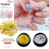 MIZHSE Gold Silver Nail Strip Accessories Nail Art 3D Nail Decoration Metal Wire Line Mirror Flakies Set UV Gel Nail Decoration