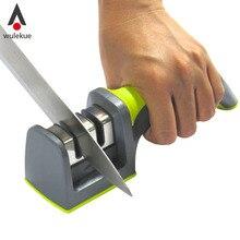 1 UNIDS Hogar Gadgets Utensilios de Comedor Cubiertos y Accesorios Cuchillo de Cocina Mango Soft-Grip 2 Etapa Profesional Afilador de cuchillos