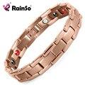 Rainso Titanium Health Elements (Германия, ЕЛЬ, отрицательные ионы, Магнитные) Браслеты и Браслеты для Мужчин Розовое Золото OTB-1289RG