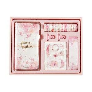 Image 5 - Flamingo Bullet Journal ของขวัญกล่องชุดเกาหลี Freshness ของขวัญนักเรียนเครื่องเขียนโน๊ตบุ๊ค