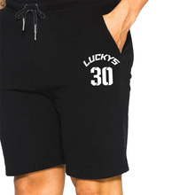 New Number Lucky 30 Print Shorts Trunks Beach Breathable Cotton Gym Short Trousers