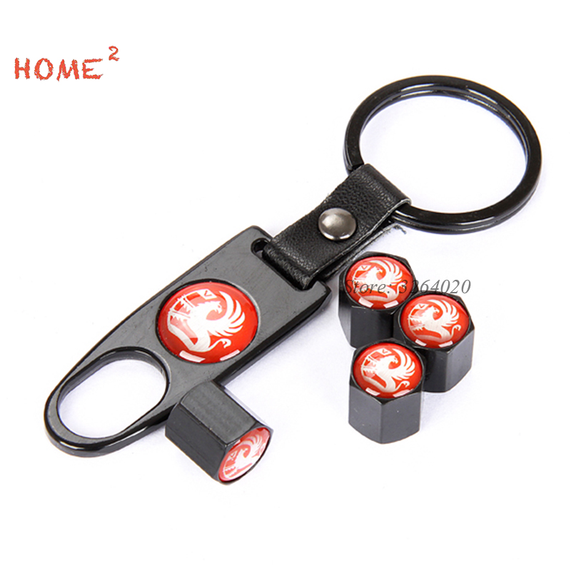 4pcs Auto Car Wheel Parts Cover Tire Valves Stems Caps Car Keychain for Vauxhall Logo fo ...