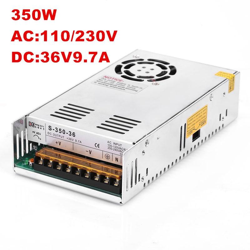 20PCS 36V 350W Switching Power Supply 36V Power Driver for LED Strip AC-DC 100-240V DC36V 9.7A dc power supply 36v 9 7a 350w led driver transformer 110v 240v ac to dc36v power adapter for strip lamp cnc cctv
