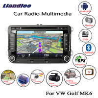Liandlee For Volkswagen VW Golf MK6 2008~2014 2 din Android Car Radio GPS Navi Maps CD DVD Player Camera OBD TV HD Screen