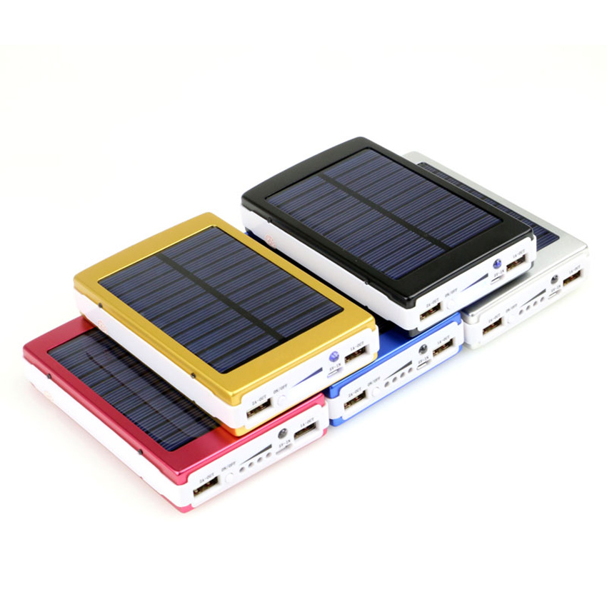 Solar Charger Power Bank 12000MAH Portable Charging Powerbank External Battery Chargers bateria externa For iPhone Mobile