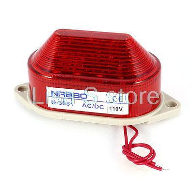Industrial AC 110V Red LED Blinking Warning Light Bulb Signal Tower Lamp N-3051