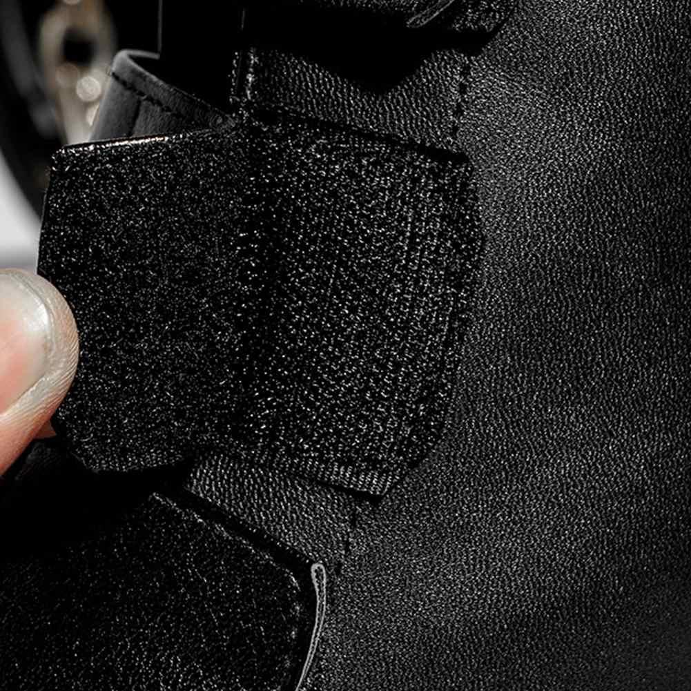 BONJOMARISA 2019 Sıcak Satış Gümüş Patik Kadınlar 2019 Sonbahar Büyük Boy 34-43 kaymaz yarım çizmeler Kadın Kürk ayakkabı Kadın 34-43