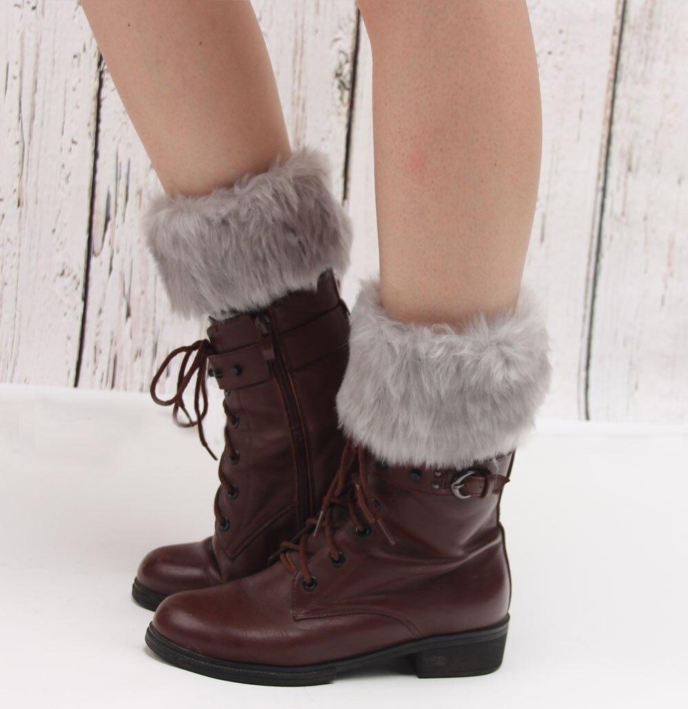 Горячая Распродажа, женские зимние меховые ножки гетры, мягкие сапоги из искусственного меха с манжетами, зимние носки под сапоги, модные аксессуары