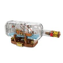 Creator Pirates Ship in a Bottle Building Block Bricks Toys Kids Gifts Compatible with  Interactive Toys For children lepin 16051 creative ideas pirates of caribbean ship in a bottle building block bricks kids toys clone legoings 21313 lepin toys
