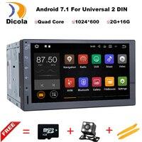 7 inç 2 Din Android 7.11 Araba Dvd Oynatıcı Ses Evrensel Gps Navigasyon Direksiyon Simidi-2Din Için Stereo Radyo Kaydedici Wifi harita