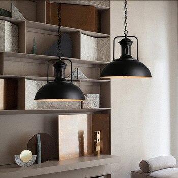 Lustre rétro Vintage industriel café Loft pendentif plafonnier luminaire lustre abat-jour fer plafonniers E27 douille