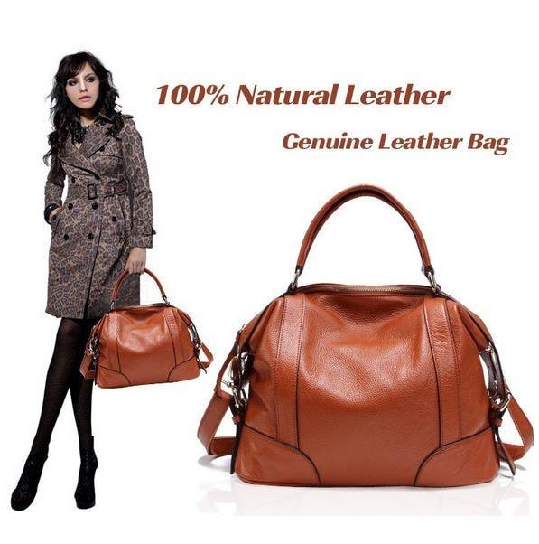 ФОТО Real Leather Bags! Women Genuine Leather Bags Ladies Designer Vintage Shoulder Bag Women Handbags European and American Style