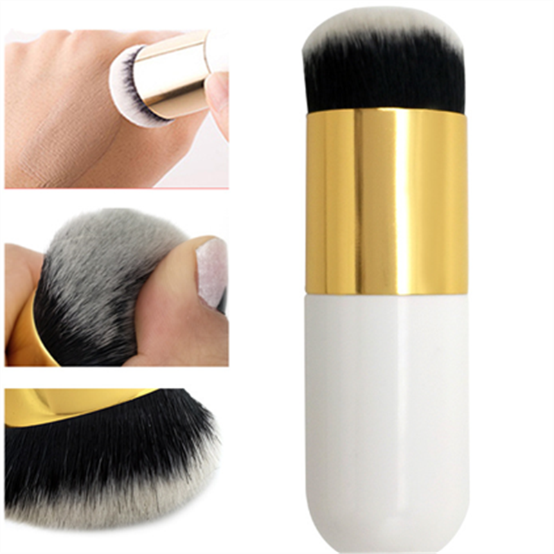2019 New Chubby Pier Foundation Brush Flat Cream Makeup Brushes Professional Cosmetic Make-up Brush(China)