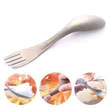 Titanium Cookware Outdoor Camping Picnic Spoon Tableware Fork Ultralight Pure Spork