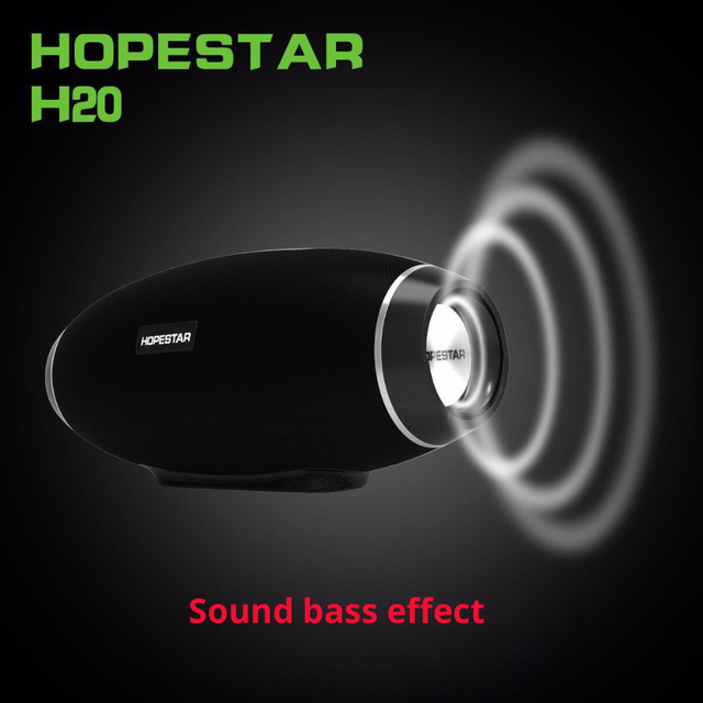 Hopestar H20 Portable Bluetooth Speaker waterproof mp3 Music column Wireless 30W PC tv Sound bar box Stereo Subwoofer for xiaomi