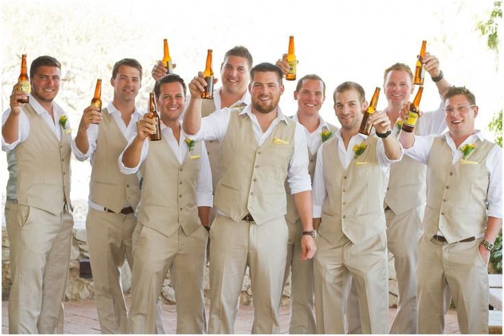 autumnspring groom wear beach wedding men linen suits waistcoat and pants groomsmen suit groom