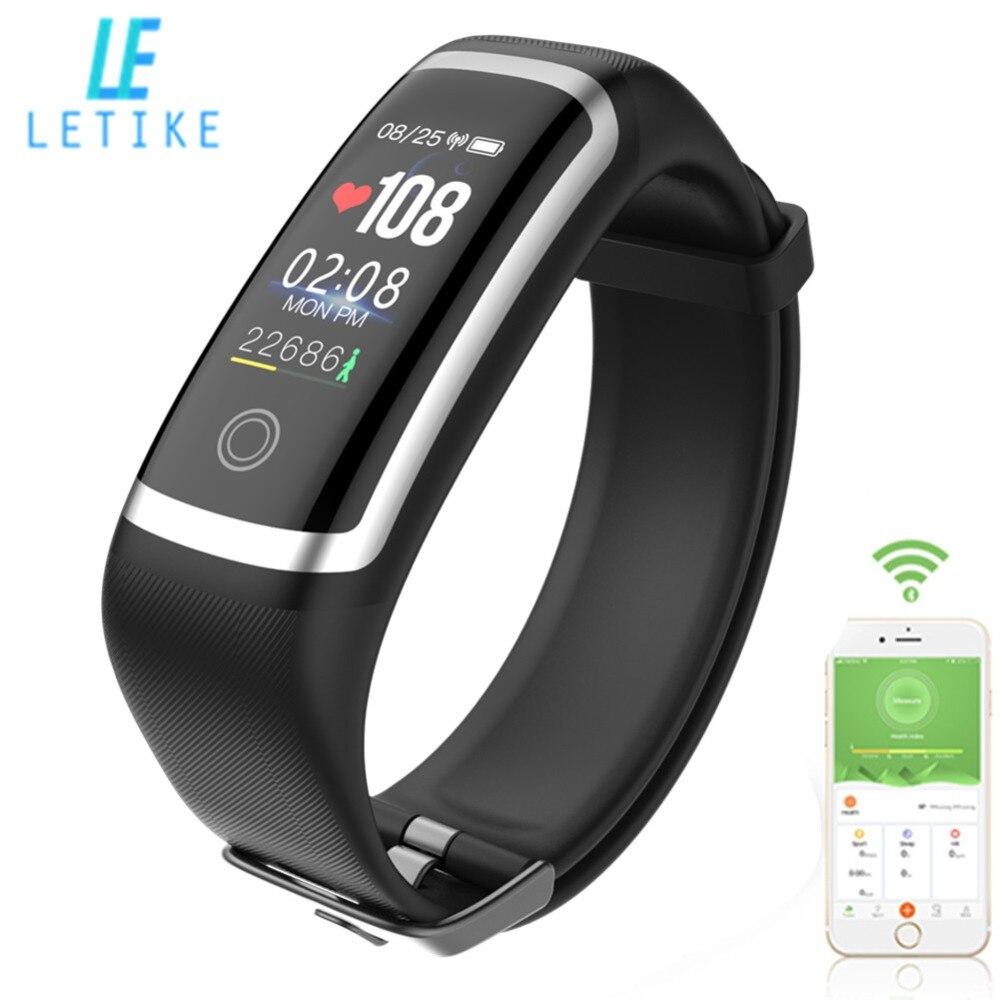 Letike M4 Fitness Tracker el chip Nrf52832 reloj tiempo real dinámico corazón tasa y monitor de presión arterial pulsera inteligente banda