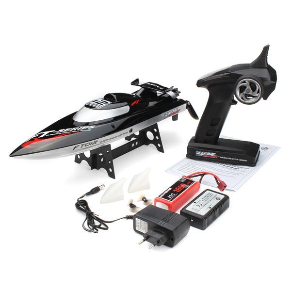 45км/ч оригинальные FT012 модернизированный ft009 2.4 г Бесщеточный RC гоночный катер черный F15278