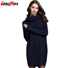 GAREMAY Women Sweater Turtleneck Pullover Women Sweater Dress Long Sweaters 2016 Spring White Casual Clothes For Women S061