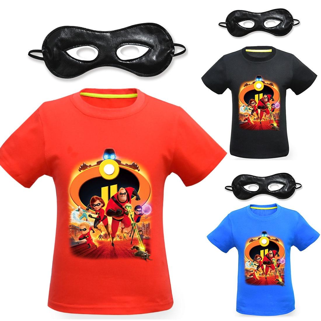 100% QualitäT 2018 Junge Sommer Die Unglaublichen T-shirt Bob Helen Jack Dash Sweat Shirt Kinder Kinder Marke Top T Shirt Menino Kinder Kostüm