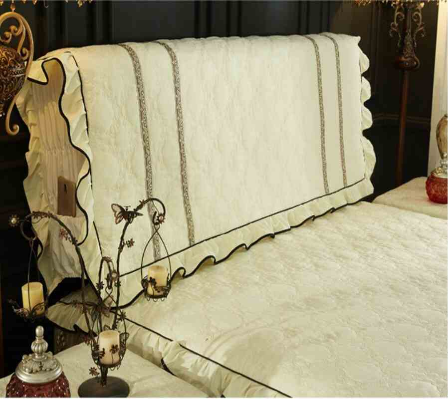 Korean style Headboard Cover Princess Ruffles Bedding Bed Cover With Cotton Dustproof Home Decoration Twin Full Queen King size
