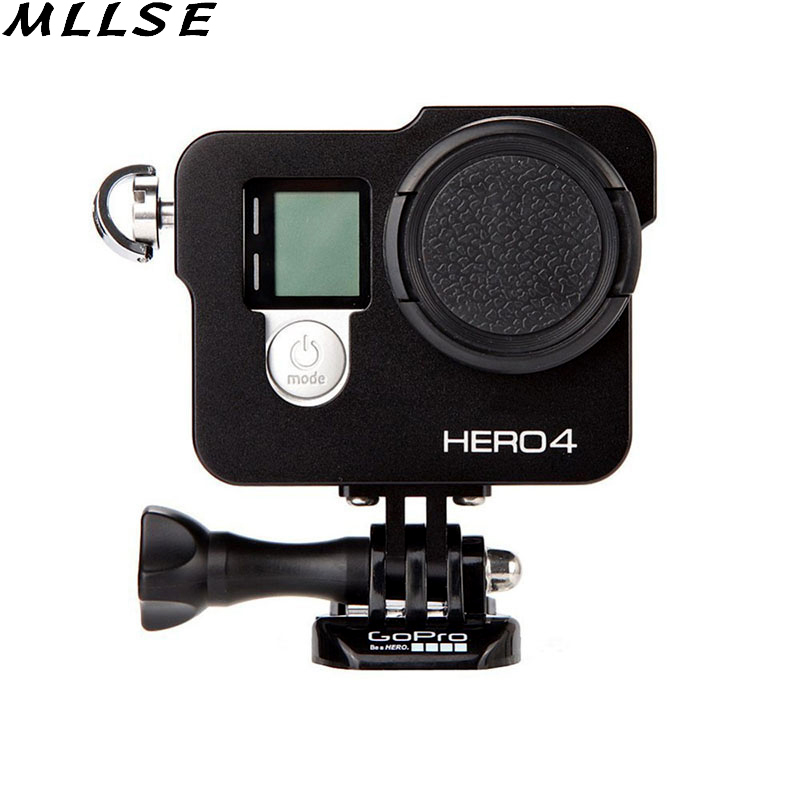 For Gopro Protective Case For GoPro Hero 4 3 3 CNC Aluminum Alloy Protective Case Mount